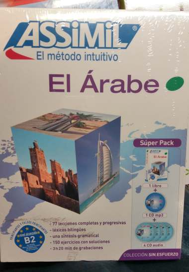 El Árabe Sin Esfuerzo, Assimil (pack con CD audio y MP3). Assimil Árabe es indicado para niveles A1 a B2. Opiniones muy positivas.