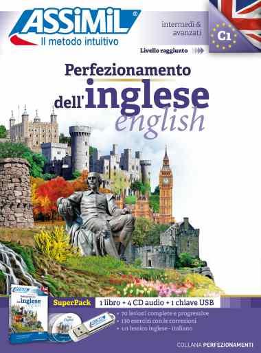 Perfezionamento dell'Inglese, Assimil (pack con CD audio e MP3). La collana Perfezionamento ha molte opere, con USB e libro cartaceo. Non disponibile in PDF da scaricare. Per raggiungere un inglese C1.