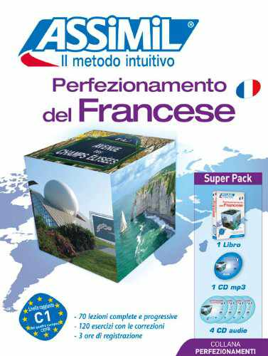 Perfezionamento del Francese, Assimil (pack con CD audio e MP3). Un Assimil francese, per passare da francese B2 a C1. Ideale insieme all'Assimil Business French