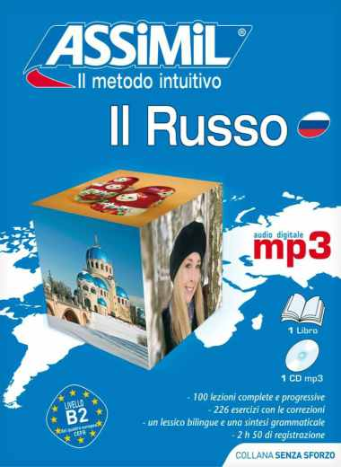 Il Russo Senza Sforzo, Assimil (pack con CD audio e MP3). Il russo è difficile, ma con Assimil lo si impara in poco tempo e facilmente