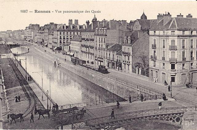 Rennes a finales del siglo XIX. El fundador de Assimil es de aquí.