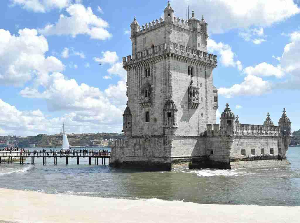 Torre de Belém, Lisbona. Imparare portoghese a Lisbona: ottimo.
