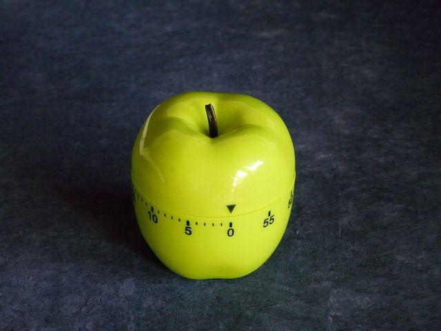 Timer in forma di mela per mettere in pratica la Tecnica del Pomodoro