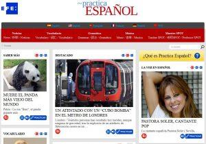 Spagnolo facile: Práctica Español, pagina dell'agenzia EFE