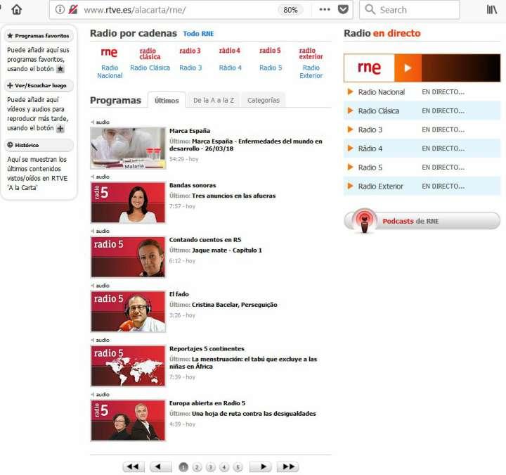 Spagnolo facile: La sezione di Radiotelevisión Española
