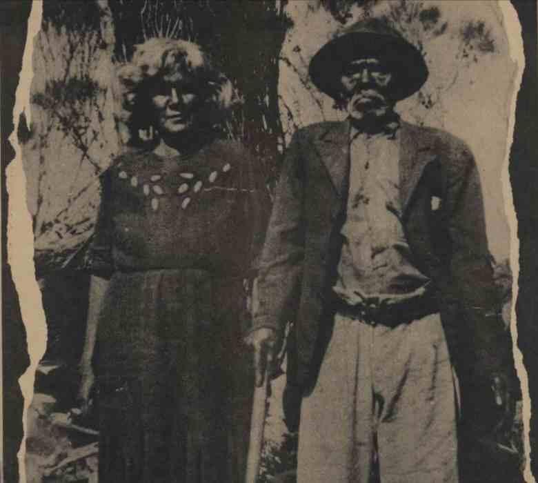 Una imagen de comienzo del siglo XX de una pareja aborigen de la nación Noongar