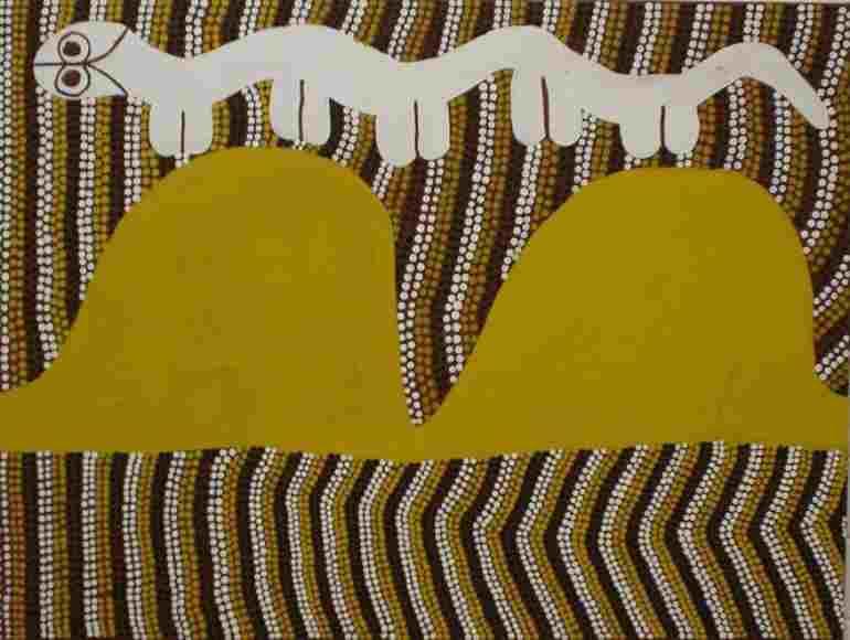 Serpiente arcoiris, animal mitologico del Tiempo del Sueno