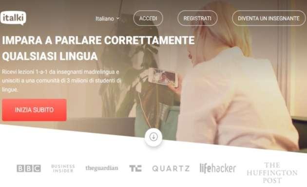 Iniziare ad imparare l'inglese: Italki