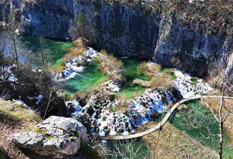 Parque de los Lagos de Plitvice, en Croacia.