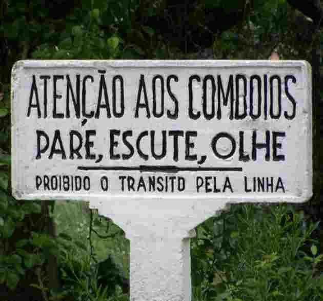 Portugués Básico: señal de tráfico