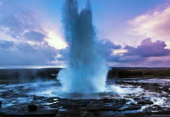 Estudiar islandés: géiser