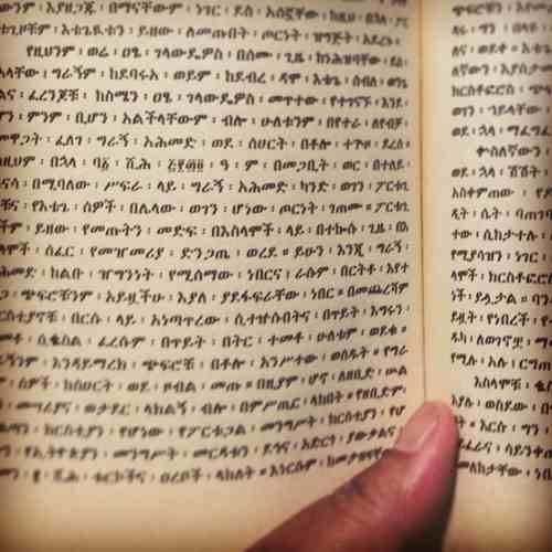 Idiomas menores: amhárico