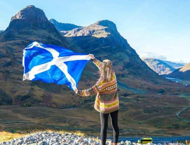 Idioma Escocés: bandera