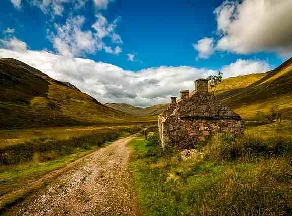Idioma escocés: paisaje rural