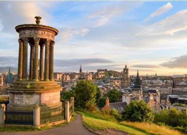 Lengua Escocesa: vista de Edimburgo