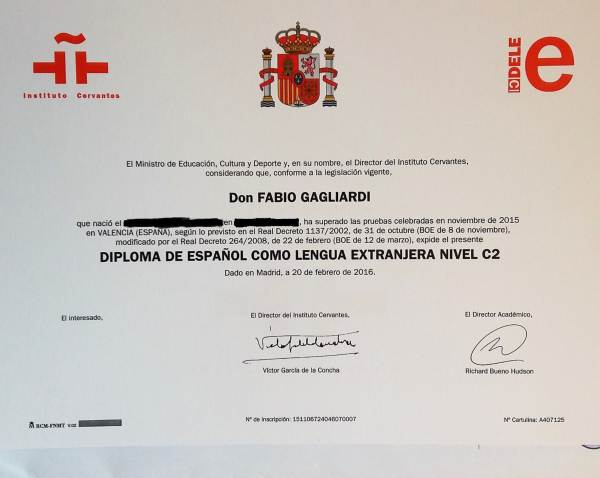Diploma DELE C2
