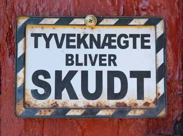 Lingua danese: cartelli.