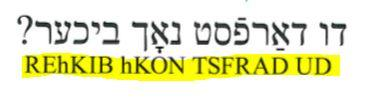 Frammento de l'Yiddish Senza Sforzo di Assimil