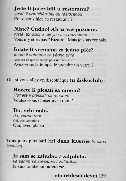 Frases en croata