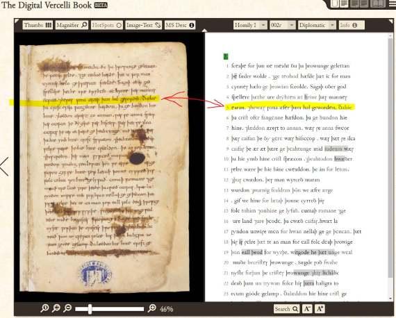 Estudiar anglosajón con el Vercelli book