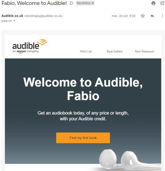 Subscription to Audible