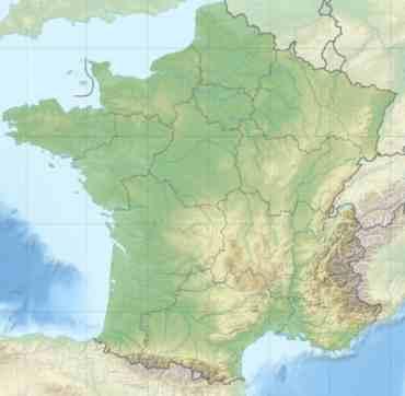 Mapa fisico Francia