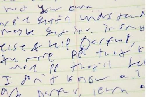 Escritura manuscrita pesima