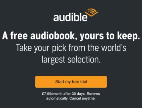 Audible subscription free