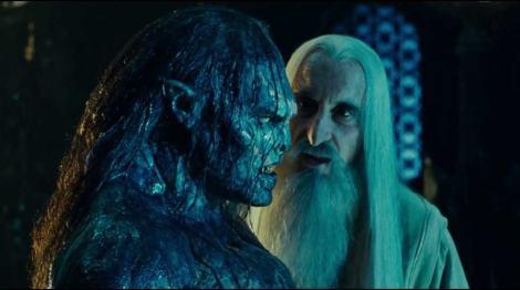Saruman istruisce un uruk-hai