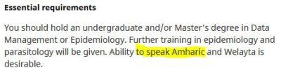 Amharic jobs in UK